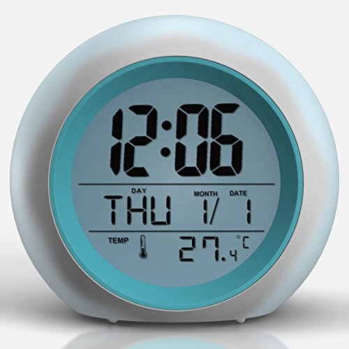 Price comparison product image 2017 Newest Upgraded Alarm Clock - Premium Digital Display Model for Adults,  Kids & Teens - Today Get 100% - Clocks for Home and Travel,  Work for Heavy Sleepers - Limited Edition