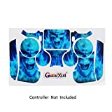 Skins for PS4 Controller - Decals for Playstation 4 Games - Stickers Cover for PS4 Slim Sony Play Station Four Controllers Pro PS4 Accessories PS4 Remote Wireless Dualshock 4 - Flag Daemon 6 Light Bar
