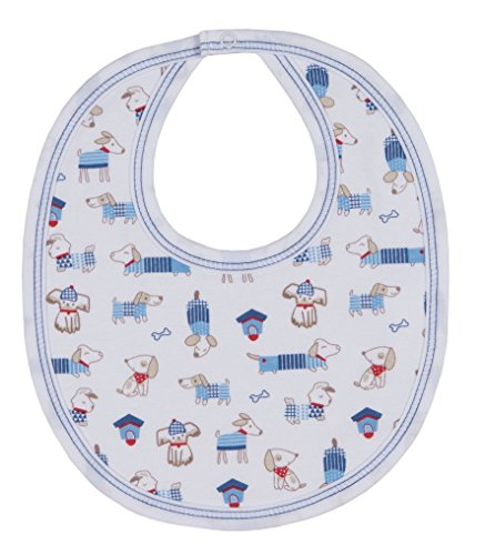 - Kissy Kissy Baby-Boys Infant Cozy Pups Print Bib-Multicolored-One Size