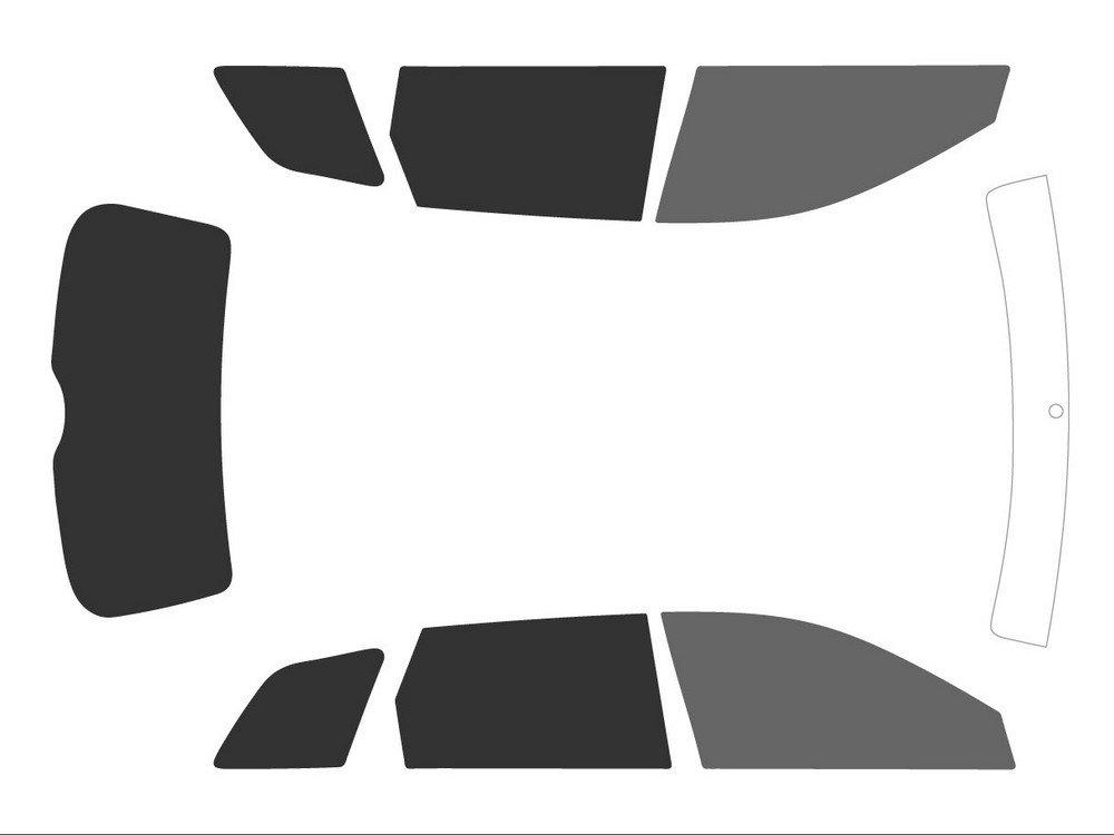 Back Black 05 Variance Auto Tinted Films for Car Complete Kit Front Black 35