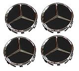 Mercedes-Benz Wheel Center Hub Cap Cover Emblem Badge Sets of 4,Black