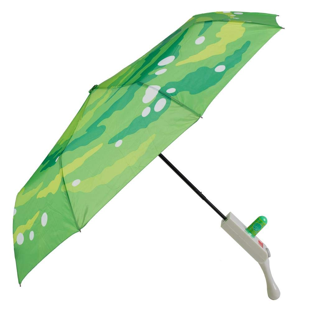 Portal Rick and Morty Umbrella with Molded Handle by Bioworld
