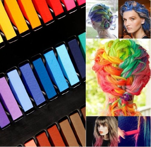 Premium Quality Hair Styling Set With 32 Colours Hair Chalk Pastels / Wash Out Temporary Hair Dye By VAGA