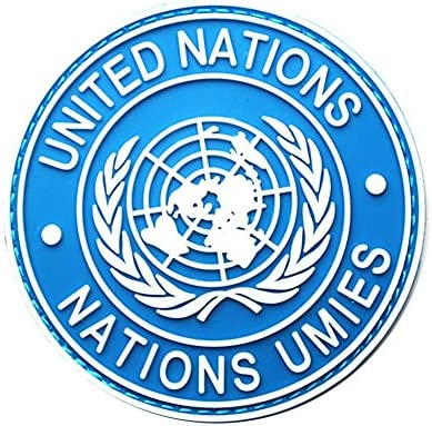 Demiawaking ミリタリー 国連ワッペン パッチ サバゲー 国際連合軍物 袖章 徽章 腕章 全6種類 スクエア型と丸型 丸型 ブルー