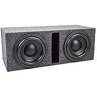 Skar Audio Dual 10 2400 Watt VVXv2 Dual 2 Ohm 1 Front Baffle Heavy Duty Loaded Vented Subwooofer Enclosure