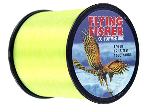 Flying Fisher Co-Polymer Line 1/4lb Spool, Fluorescent Green