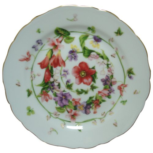 Versace by Rosenthal Flower Fantasy 6-3/4-Inch  Bread and Butter (Versace China Plates)