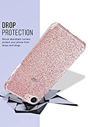 Silk iPhone 7 Glitter Case - PureView for iPhone 7 [Ultra Slim Fit Clear Sparkle Cover] - Rose Gold