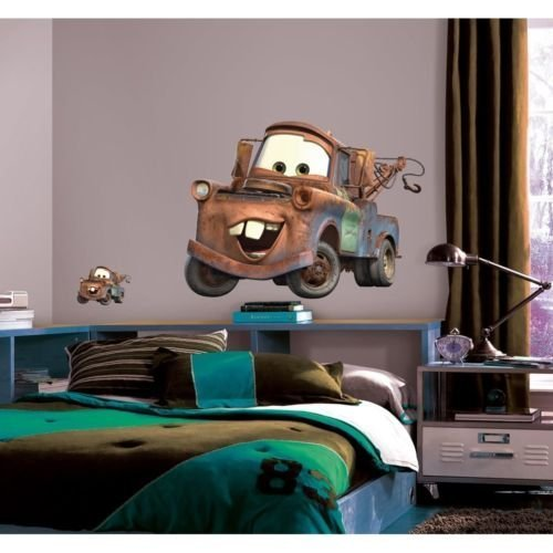 New Giant MATER WALL DECALS Disney Cars Tow Truck Bedroom...