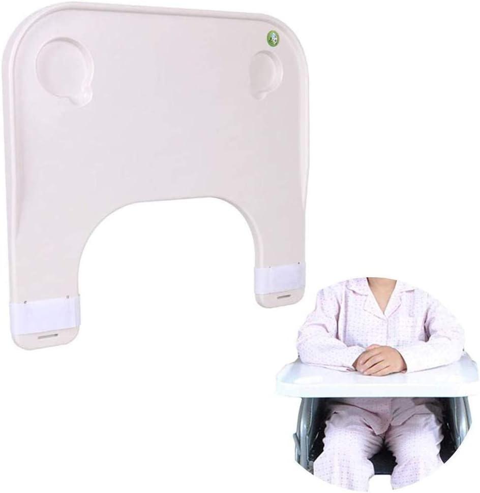 YFGlgy Silla de Ruedas Bandeja para Regazo Accesorios de Mesa Bandejas universales Escritorio Apto para sillas de Ruedas eléctricas o manuales Manual médico portátil, diseño de Ranura de Copa Doble
