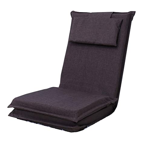 YLCJ Silla Plegable con cojín Silla reclinable sofá cojín ...