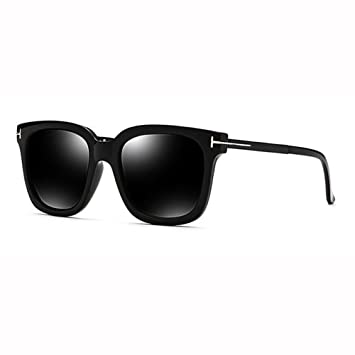 WX xin Retro Cara Redonda Caja Cuadrada Grande Gafas De Sol ...