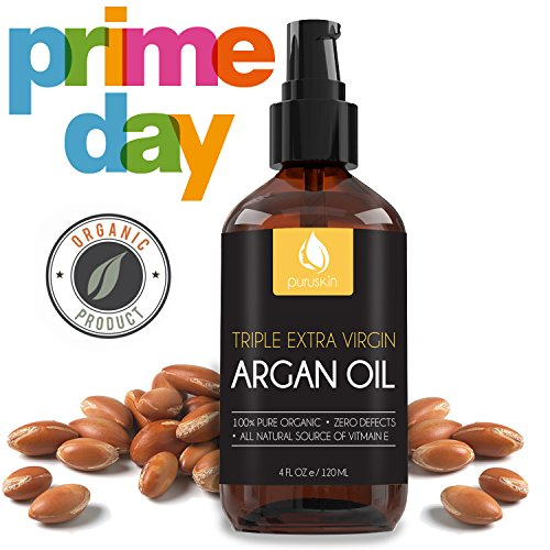 BEST VIRGIN ARGAN OIL for Beautiful Hair, Face, Nails, Organic & Pure Moroccan, Works Great with Shampoo, Serums, Conditioners for Growth, Perfect Moisturizer for Dry & Acne Prone Skin Care, 4 oz. Review