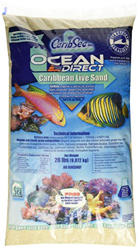 Carib Sea ACS000920 Ocean Direct Natural Live Sand for Aquarium, 20-Pound