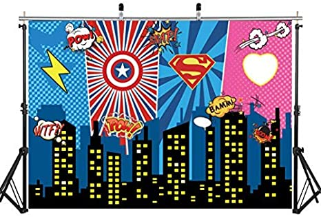 Aiikes 7x5ft Mighty Avengers Party Superhelden Kamera