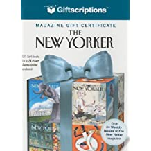 The New Yorker Magazine Gift Certificate: 24-Issue Subscription