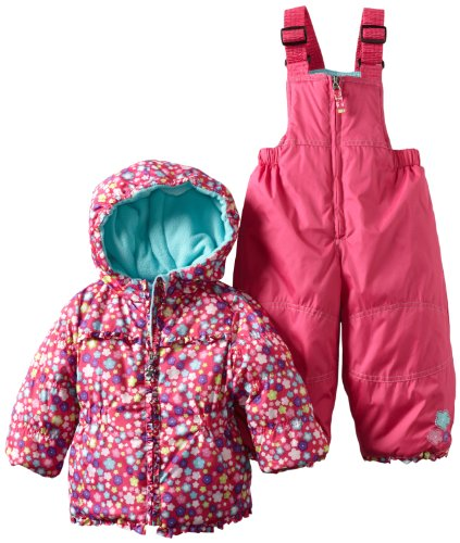Bon bebe Baby Girls' Two Piece Snowsuit In Bright Ditsy Print