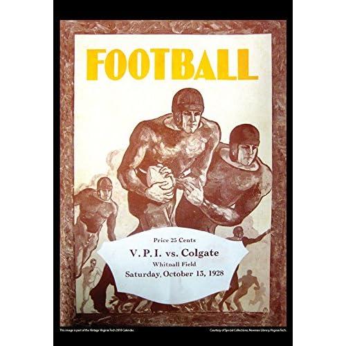 Virginia Tech Calendar.2018 Vintage Virginia Tech Hokies Football Calendar 80 Off Ipuanl