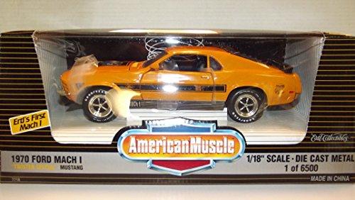 - Ertl 1/18 1970 Ford Mustang Twister Mach 1 orange NIB