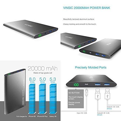 GOOD MEDIA Power Bank Vinsic 20000Mah Ultra Slim For Iphone External Mobile Battery Charger ✅