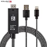 Xcellent Global 2m Lightning to HDMI cable, 1080P Mobile Phone to HDMI Adapter for X/8/7/6/5 Series, Pad Air/mini/Pro, iPod touch HDTV Cable PC042