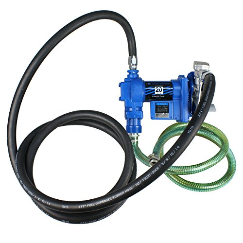 Super Deal Gasoline Fuel Transfer Pump 12 Volt DC 20GPM Gas Diesel Kerosene Nozzle Kit by SUPER DEAL (Image #1)
