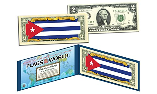 CUBA - Flags of the World Genuine Legal Tender U.S. $2 Bill Currency ()