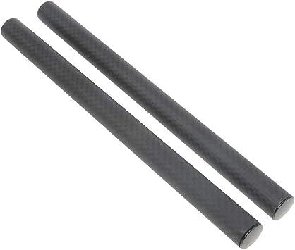 F Fityle 2 Piezas de Varillas de Fibras de Carbono para Cámara DSLR Sistema de Varillas de 15 mm - 200mm