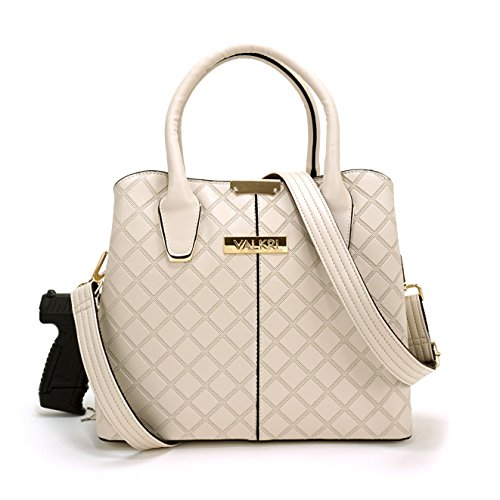 Valkri Juno Concealed Carry Crossbody Gun Purse - Locking Handbag with Reinforced Shoulder Strap -