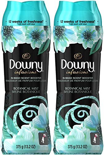 Downy Infusions in-Wash Scent Booster Beads, Botanical Mist, 13.2 Ounce (Pack of 2)
