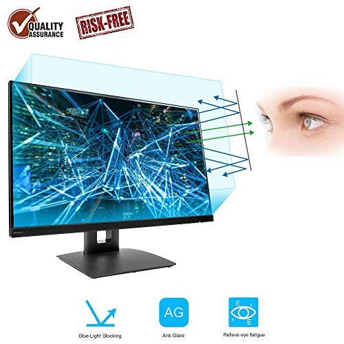 27 Inch Monitor Screen Protector -Blue Light Filter, FORITO Eye Protection Blue Light Blocking Computer Screen Protector for 27' Widescreen Desktop Monitor with 16:9 Aspect Ratio