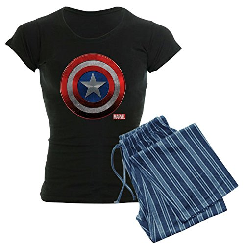 (CafePress Captain America Grunge Womens Novelty Cotton Pajama Set, Comfortable PJ)