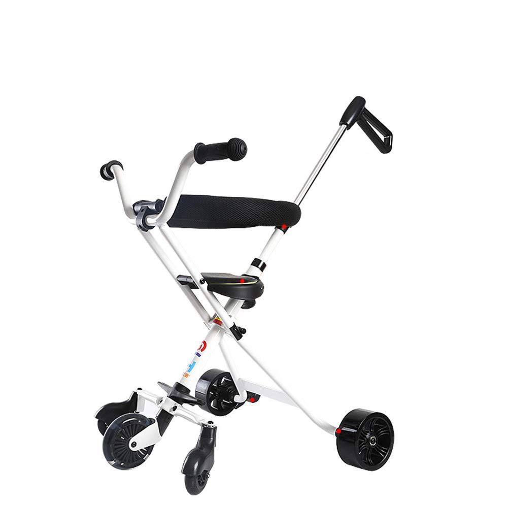 子供の三輪車軽量折りたたみキッズトライク 白、2-6歳の少年少女のために B07KZV155S B07KZV155S 白 白 白, 永大産業webshop:8e2d206b --- cgt-tbc.fr