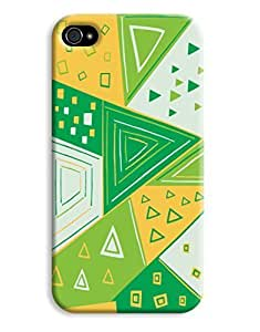 Green Triangles Case for your iPhone 4/4s