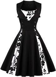 de7d68d2ac7 RoseGal Women s Plus Size Vintage Party Dresses 1950s Rockabilly Audrey  Summer Dress Retro Cocktail Dress