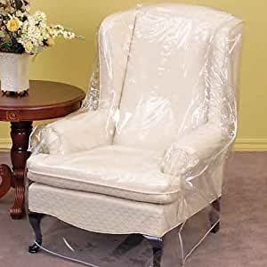 Clear Vinyl Furniture Protector Chair Recliner Cover 36 W X 40 D X 42 H Rear 25