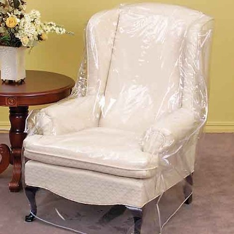 Clear Vinyl Furniture Protector - Chair/Recliner Cover - 36