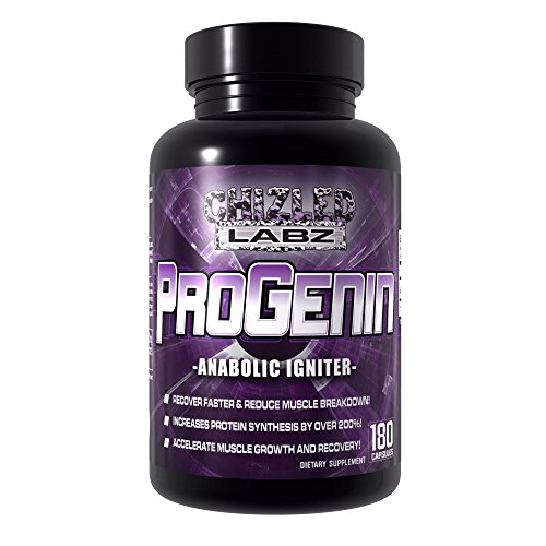 Powerful Muscle Building Supplement, PROGENIN. 5-Alpha-Hydroxy-Laxogenin, Premium Formula to Increase Protein Synthesis, Lean Hard Muscle Growth, Strength and Recovery. 180 Capsules