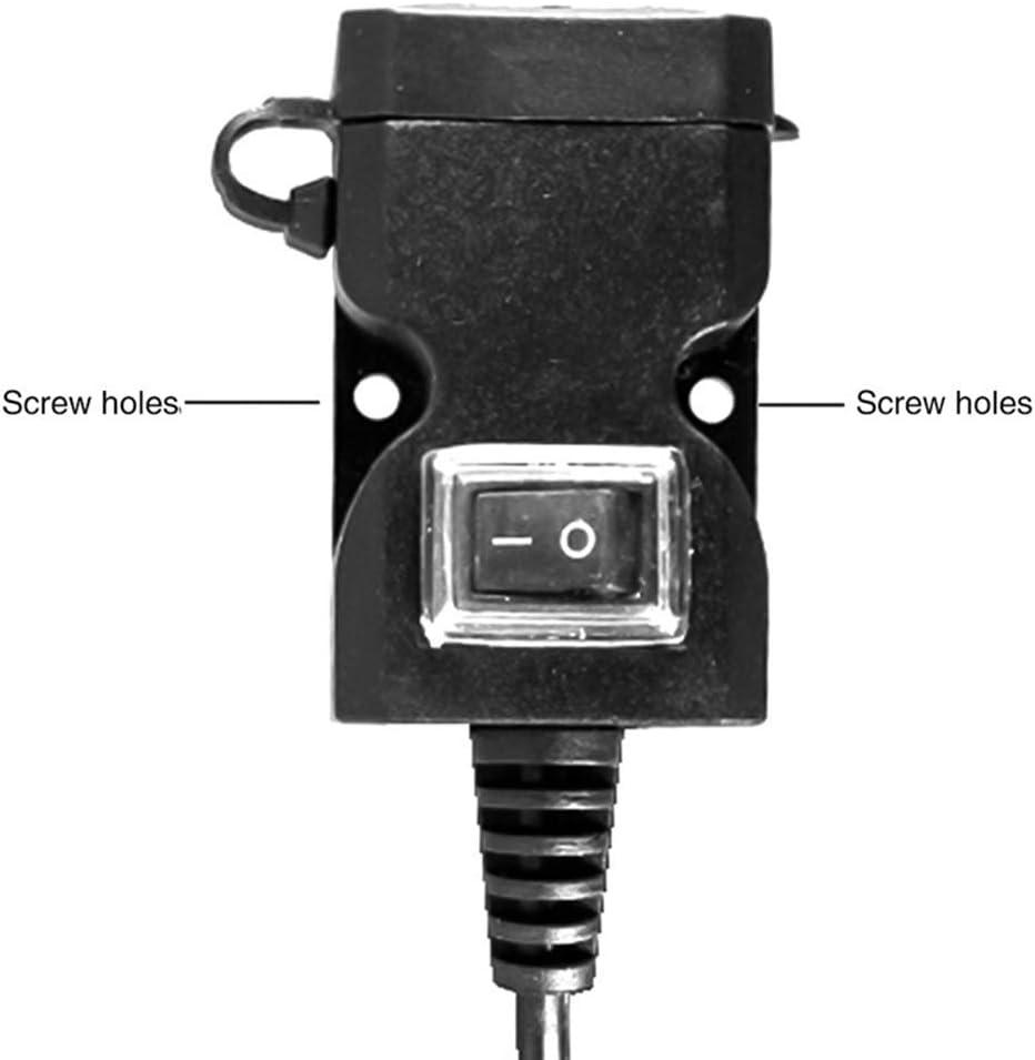 hudiemm0B Motorcycle Charger 1.5//2A Dual USB Port Waterproof Motorcycle USB Phone Charger Adapter Socket
