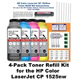 HP LaserJet CP 1525nw Toner Refill Kit (4 Pack – Black, Cyan, Magenta, Yellow), Office Central