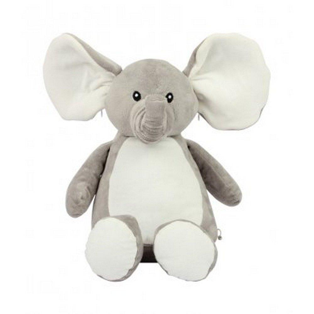 Mumbles Zippie - Elefante de peluche (Talla Único) (Gris)