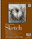 Strathmore Series 400 Sketch Pad 9 in. x 12 in. (100 Sheets per Pad) (White (4-Pack))