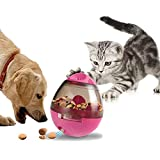 niceeshop TM Dog Food Ball, Tumbler Dog Food Feeder, Interactive Pet Dogs Dispenser Toys Treat Ball