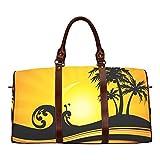 Duffel Bag Summer Holiday by the Sea Waterproof Travel Bag Womens Weekender Overnight Bag