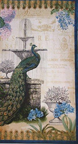 Palais Jardin Peacock Garden Floral Robert Kaufman Fabric 24
