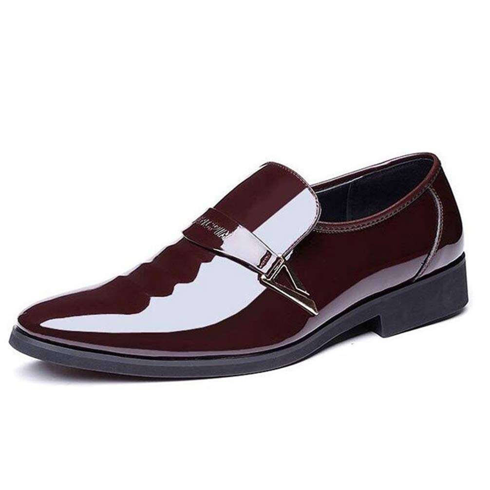 Men Oxford Shoes Pointed Toe Slip-On Business Comfortable Dress Shoes