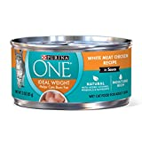 Cheap Purina One Ideal Weight White Meat Chicken Recipe In Sauce Adult Cat Food – (24) 3 Oz. Pull-Top Cans