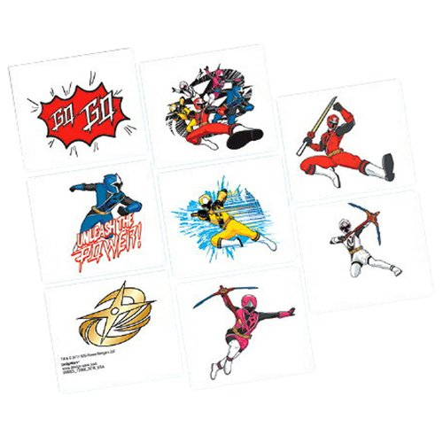 Power Rangers Ninja Steel Tattoos, Party Favor