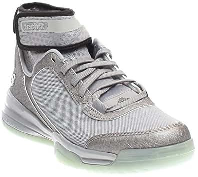 adidas Mens Dual Threat BB Basketball Shoes (7 D(M) US, Light Onix/Core Black/Running White)