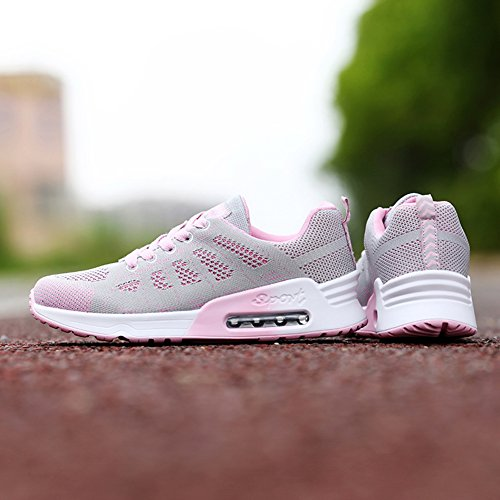 Gym Sport Air Pink Jogging Breathable Lightweight Athletic Laces Running Sneakers Fitness Womens Shoes 0azYwSAq